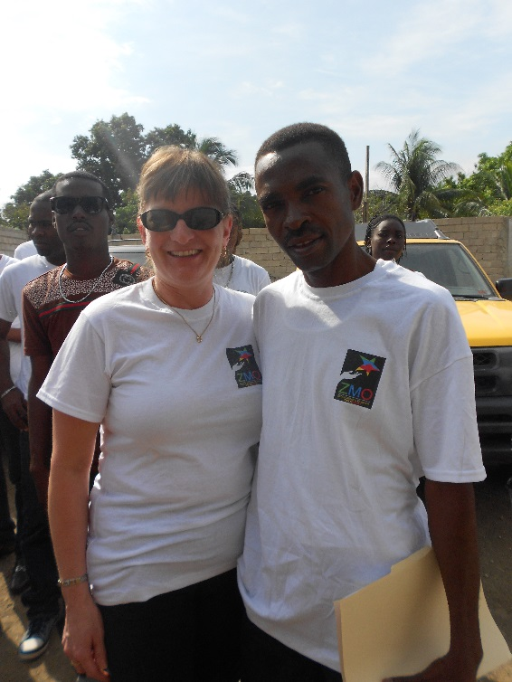 Lucy Nichols, president of ZMO with Willie Senatus, president of EDAAD.